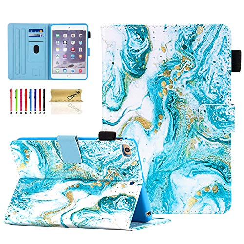 iPad 9.7 inch 2018 2017 Case/iPad Air Case/iPad Air 2 Case, Dteck PU Leather Folio Smart Cover Auto Sleep Wake Stand Wallet Girls Women Case for Apple iPad 6th / 5th Gen,iPad Air 1/2,Green Quicksand