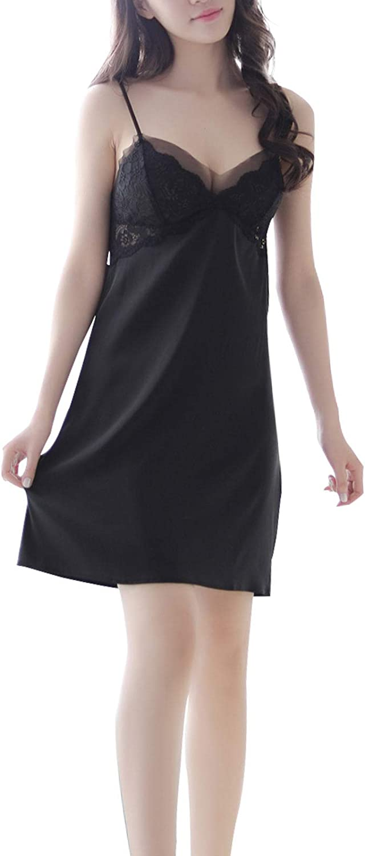 Women Cami Pajama Set Sexy Lingerie Satin Sleepwear Cami Top and Shorts Set 2 Piece Lace Nightwear