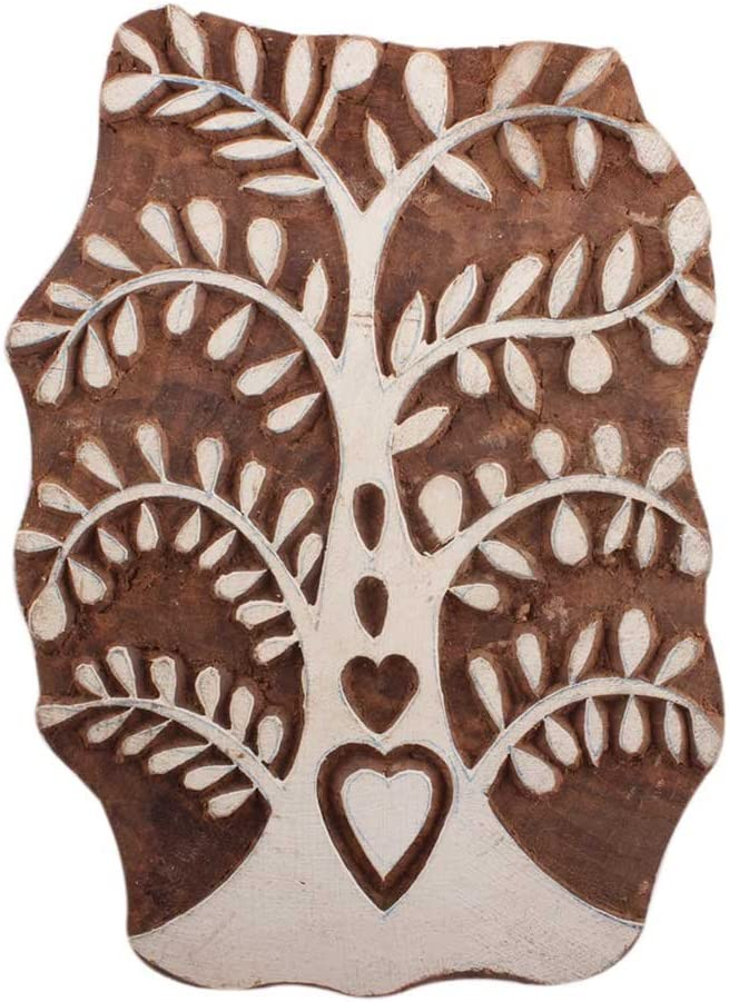 Louisville-Jefferson County Mall IndianShelf Handmade Brown Set of Printing Blocks Ranking TOP15 Wooden New 1