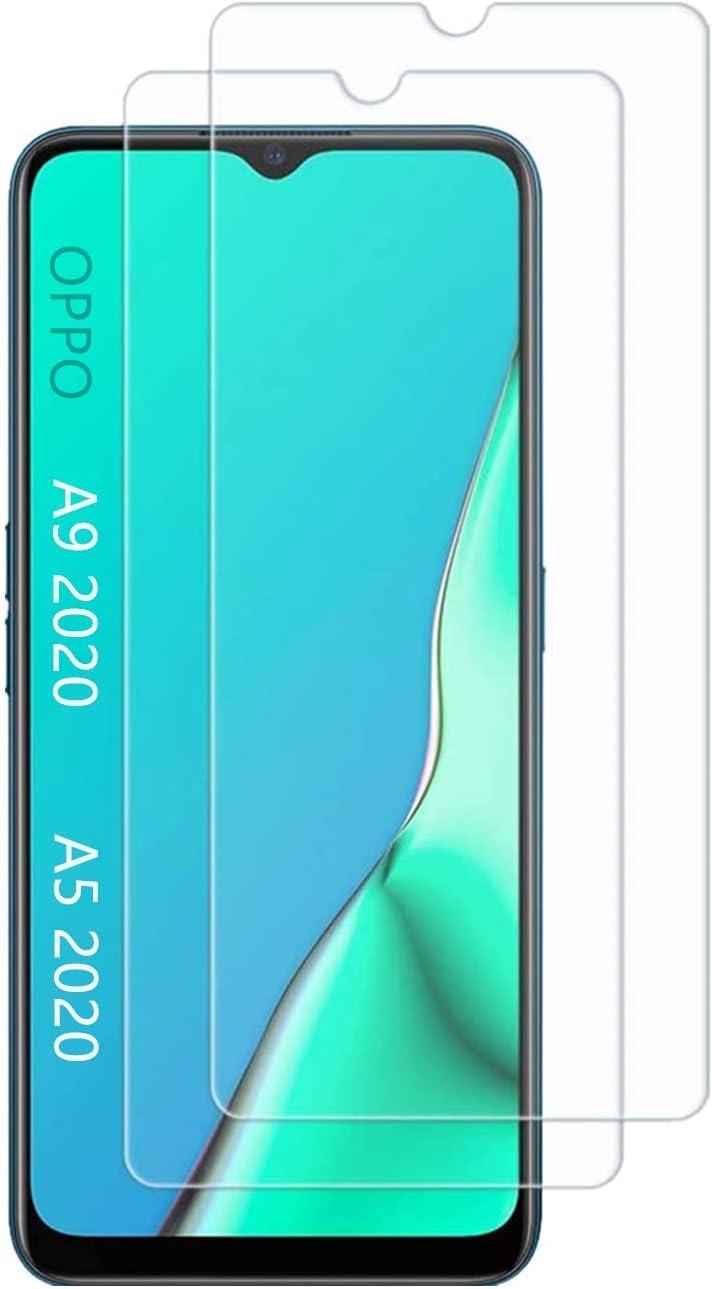 UNO' Protector pantalla cristal templado 2 Unidades compatible con OPPO A9 2020 / A5 2020, Vidrio Templado Ultra Resistent Sin Burbujas, 9H, Antiarañazos.