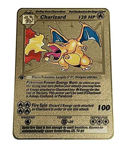 Gold Charizard 1st Edition Pokemon Card - Collector's Rare Shiny Card -Limited Supply