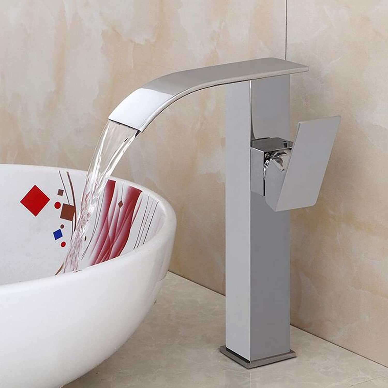 Wasserhahn TONGTONG SHOP Wasserfall-Waschtischarmaturen , Badezimmer-Messinghahn , Heies und kaltes Mischpult des Mischers , Waschraum-Waschtischarmatur
