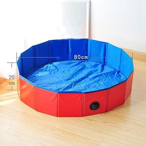 AA-Pet Folding Pool Baignoire de Bain de Taille différente pour Nager, Jouer et Se Baigner (80x20cm)
