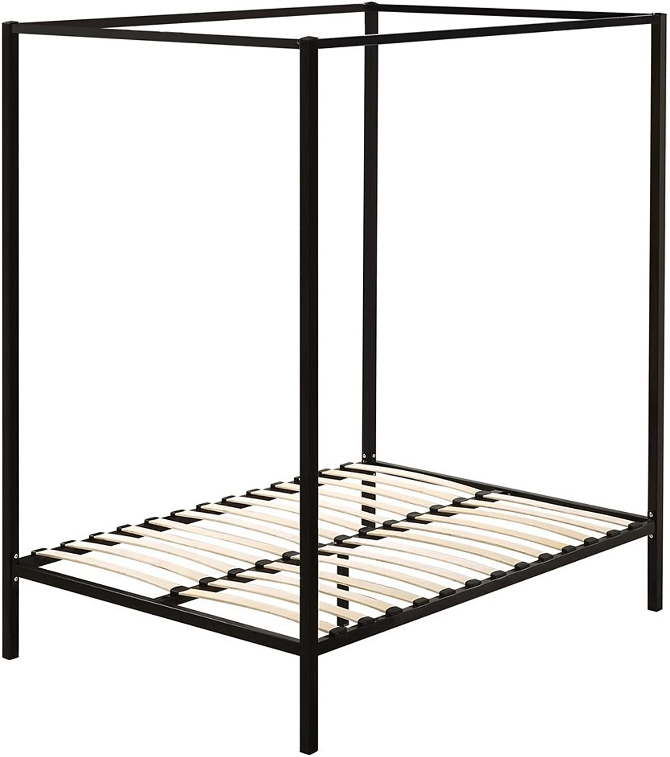 4 Four Poster Double Bed Frame with Black Finish