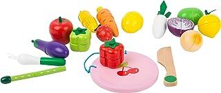 small foot company- Frutas y Verduras Cortar, 30 Piezas. Set