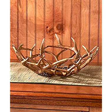 The Lakeside Collection Decorative Antler Bowl