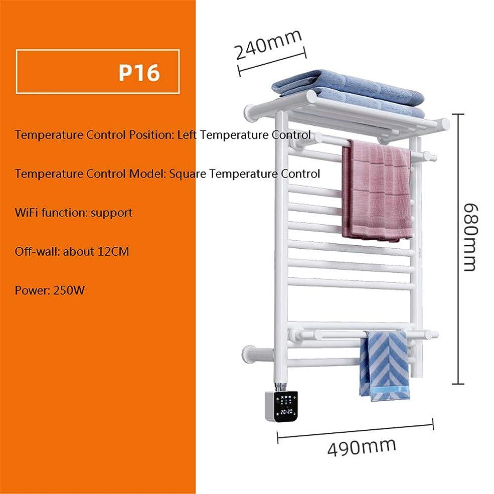特徴に対応留まる壁掛け電気プラグインのライフタオル乾燥ラック加熱タオルラックホームインテリジェンスを終え有線加熱タオルラックブラシ,F