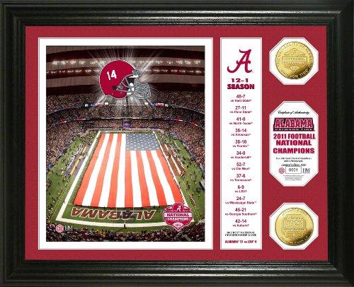 NCAA Alabama Crimson Tide 2011 BCS Champions Gold Coin Banner Photo Mint