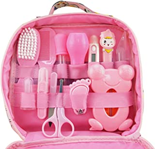 Baby Grooming kit Set Infant Baby Grooming Tools Newborn Manicure Set Baby Healthcare Nail Clippers Hairbrush Tool Set(13P...