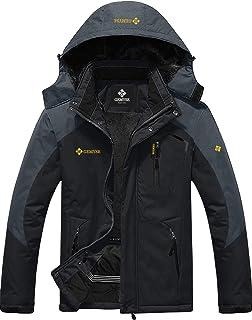 comprar comparacion GEMYSE Chaqueta de esquí Impermeable de montaña para Hombre Abrigo de Invierno al Aire Libre de Lana a Prueba de Viento co...
