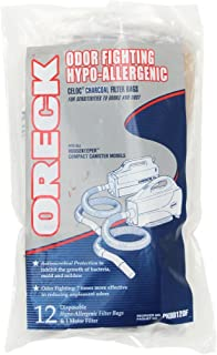 Oreck Odor Fighting Hypo-Allergenic PKBB12OF Handheld Vacuum Cleaner Bag Replacements, 12 Count