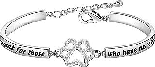 MYOSPARK Veterinarian Bracelet I Speak for Those Who Have No Voice Vet Tech Jewelry Gift for Veterinarian Nurse Vet Students