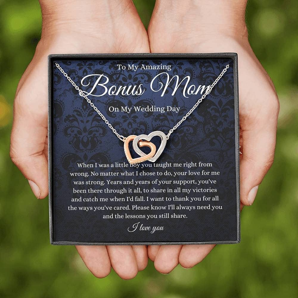 Interlocking Hearts To Bonus Mom On Sale price Day My Stepmother Of Wedding Max 78% OFF