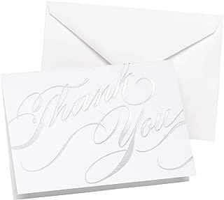 Hortense B Hewitt Silver Unending Gratitude Thank You Cards, 50-Pack