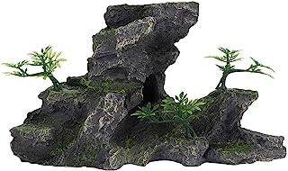 Pssopp Acuario Rocalla Decoración Tanque de Peces Simulación Resina Rocalla Vista a la montaña Adorno de Piedra Peces escondidos Cueva Decoración de Piedra