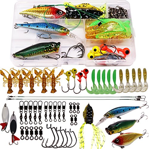 SUPERTHEO Fishing Lures Fishing Spoons Frog Lures Soft Hard Metal Lure Crank Popper Minnow Pencil...