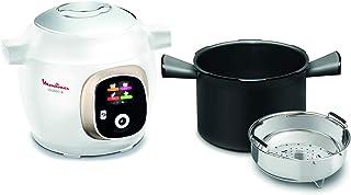 Moulinex Olla multicocción inteligente de alta presión, 6 litros, 150 recetas, 6 modos de cocción, guía paso a paso, uso fácil y rápido 150 recetas, blanco blanco