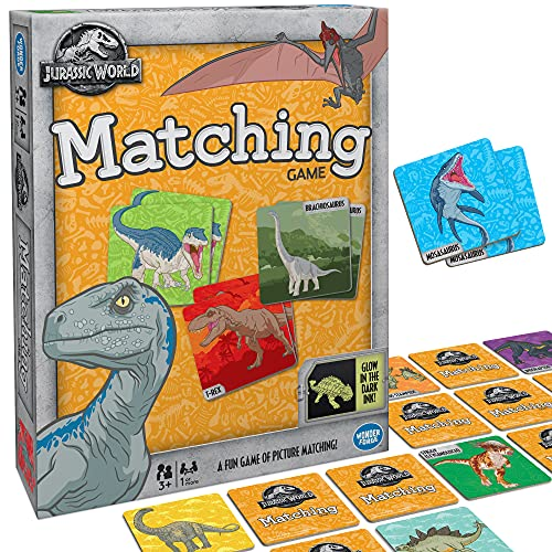Wonder Forge Jurassic World Matching Game For Boys & Girls Age 3 and Up - A Fun & Fast Dinosaur Memory Game You Can Play Over & Over