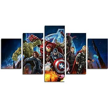 senza cornice YspgArt66/stampa pittura su tela 5/pezzi avengers-infinity-war-wallpaper-hd scene Wall Art pittura per la decorazione della casa ufficio soggiorno Mordern Gift