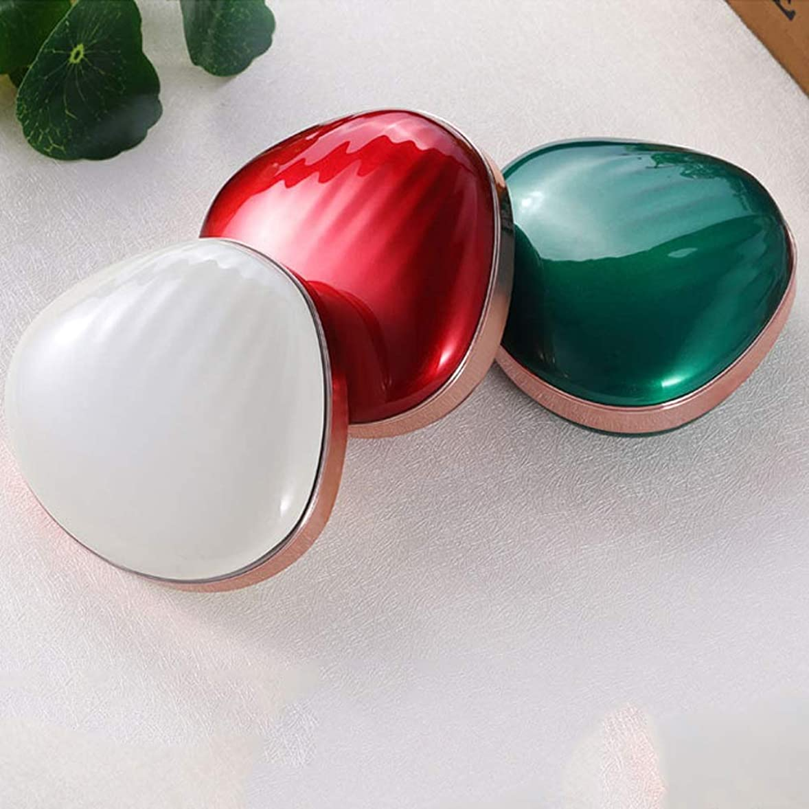 同盟モーションジャーナリスト流行の 新しいクリエイティブLEDソフトアイメイクミラー多機能塗りつぶし充電宝メイクアップミラー美容ミラーABSアルミ3レッドブルーホワイト (色 : Green)