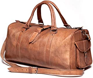 🔥 Sale! Handmade Pure Leather Luggage Duffel Travel Gym Overnight Weekend Leather Bag Classic Handmade Eco-Friendly Bag | Vintage Duffel Hand Luggage | with Free Shipping | Stock Limited