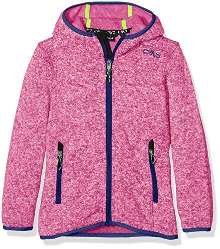 CMP Knit Tech 3h19825, Giacca di Pile Bambina, Rosa (Hot Pink/Nautico/Acacia), 164