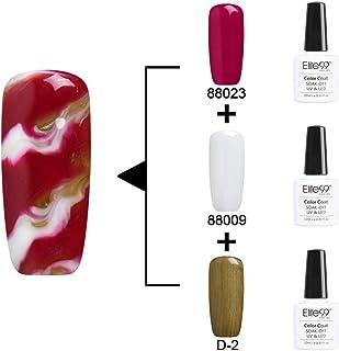 Qimisi Soak Off Changeable Uv Led Gel Polish Nail Art 3Pcs Multi Color Kit 10Ml 88023+88009+D-2