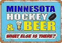 Hockey And Beer 金属板ブリキ看板警告サイン注意サイン表示パネル情報サイン金属安全サイン
