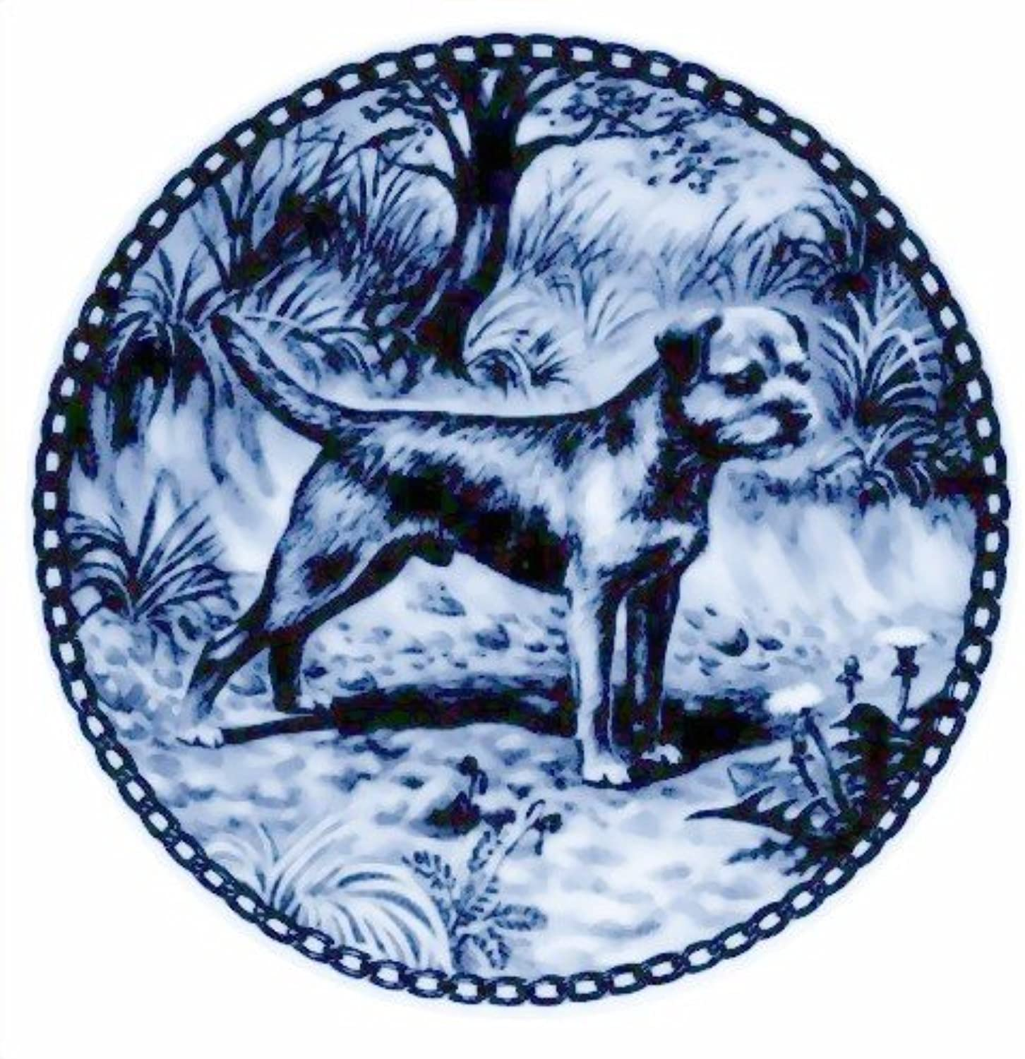 Border Terrier   Lekven Design Dog Plate 19.5 cm  7.61 inches Made in Denmark NEW with certificate of origin PLATE  7139