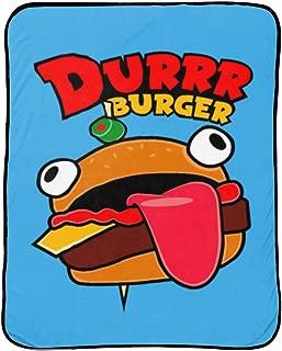 Jay Franco Fortnite Blue Durrr Burger Throw Blanket