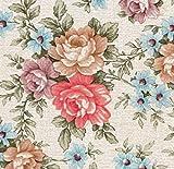 Klebefolie - Möbelfolie Blumen Romantic Rosen - 45 cm x 200 cm selbstklebende Folie - Dekorfolie Schrankfolie