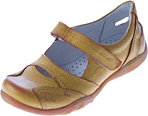 Kristofer Cuir Comfort Femme Ballerines Chaussures Basses 2007Sandales Sandaletten Orange Mangue