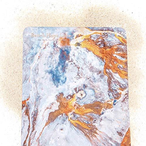 Beach.Hope.Love Yogamatte aus 100% Naturkautschuk für Sport und Yoga – 4 mm Sportmatte dünn und rutschfest – Faltbare Matte für Yoga,...