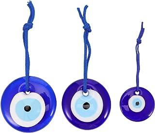 GARNECK 3 Piezas Colgantes de Mal de Ojo Encantos de Mal de Ojo de Cristal Azul Cuentas de Mal de Ojo Collar de Ojos Azule...