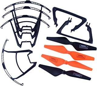 YouCute Spare Part Kit for UDI U842 U842- U818S Rc Quadcopter Drone Black Blade Landing Gear Protecting Frame