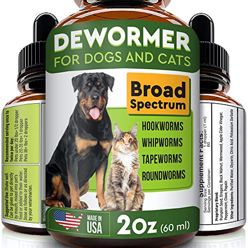 Pawesome Dewormer for Dogs and Cats - Made in USA Broad Spectrum Worm