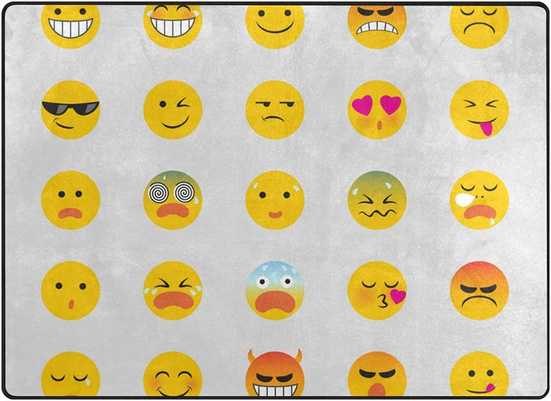FAJRO Tiny Emoji Emotions Polyester Entry Way Doormat Area Rug Multipattern Door Mat Floor Mats shoes Scraper Home Dec Anti-Slip Indoor Outdoor