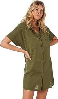 Swell Women's Sunset Hemp Shirt Dress Cotton Green