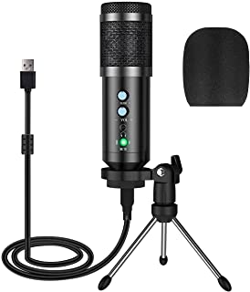 Apsung USB Microphone,Multipurpose Condenser Microphones for Computer,Laptop,Plug&Play Microphone with Desktop Stand for G...