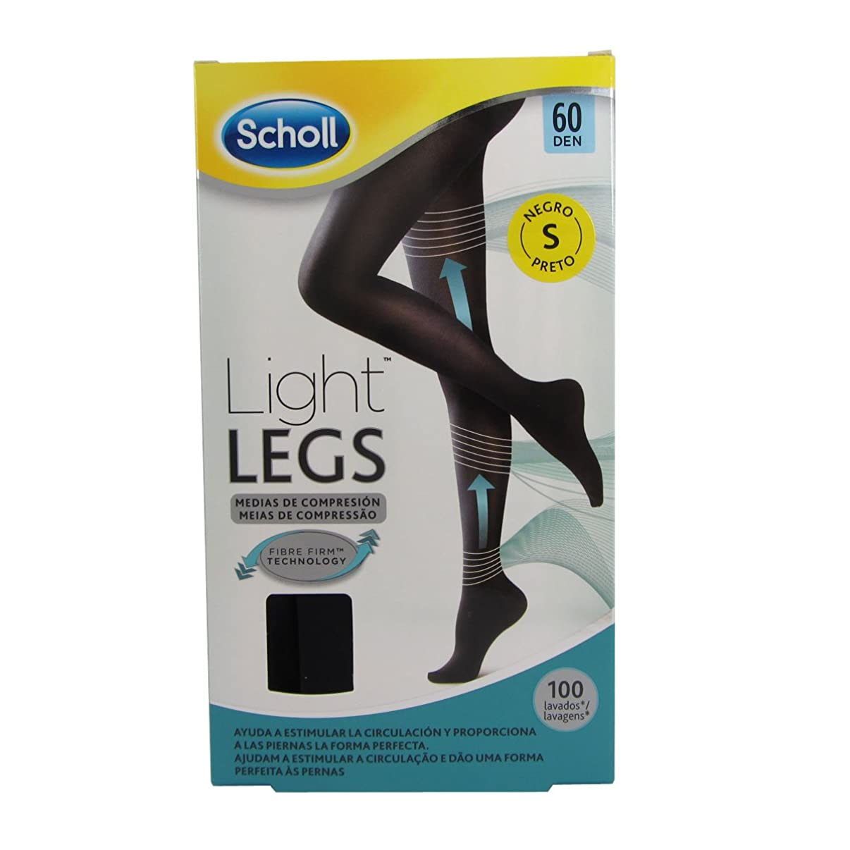 エスカレート削るでScholl Light Legs Compression Tights 60den Black Small [並行輸入品]