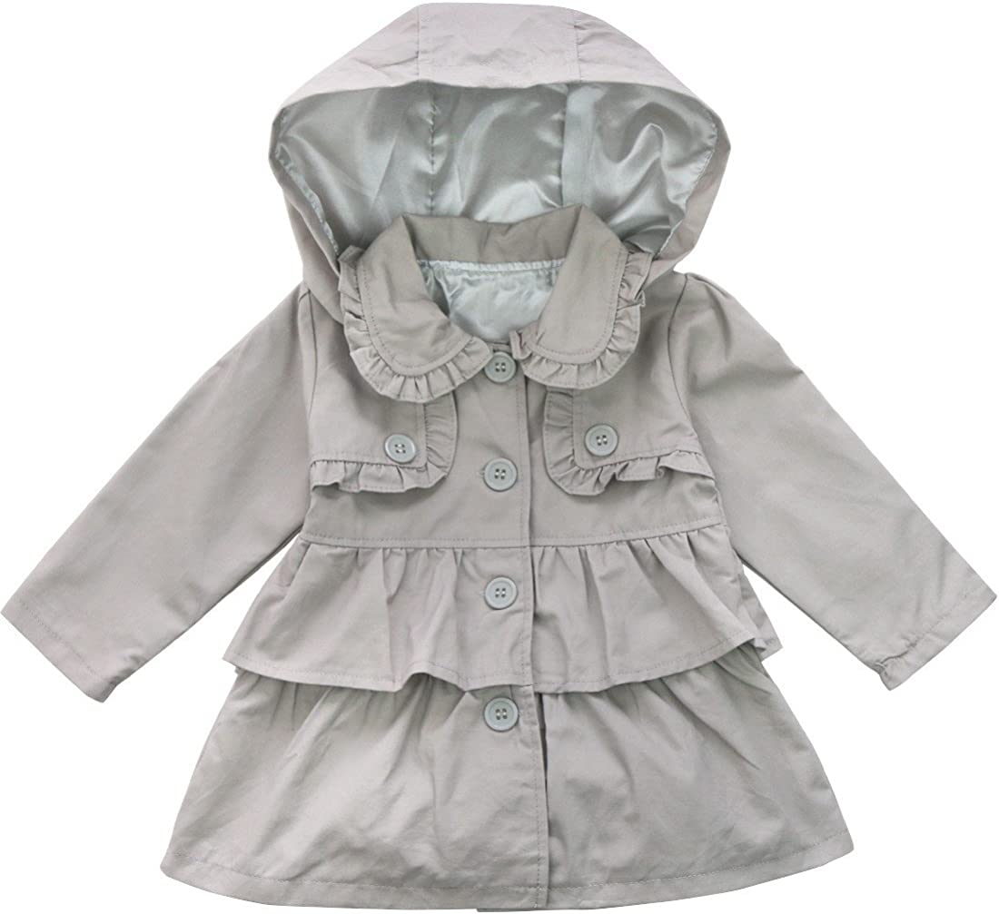 FEESHOW Baby Toddler Girls Spring Coat Super sale period Challenge the lowest price of Japan ☆ limited Trench Wind Jacket Hooded