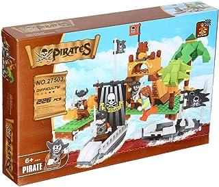 Ausini Pirates Ship Construction Toy For Kids, 226 Pieces - Multi Color