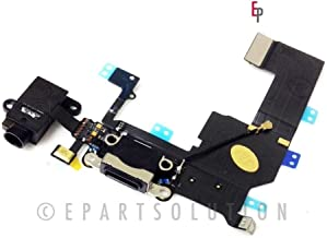 ePartSolution- iPhone 5C Black Charger Port Dock Connector Flex Cable with Head Phone Audio Jack USB Port Charging Port