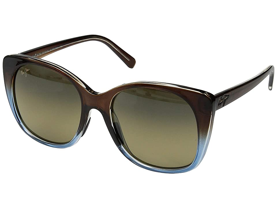 Maui Jim Mele (Translucent Dark Chocolate/Blue/HCL Bronze) Athletic Performance Sport Sunglasses