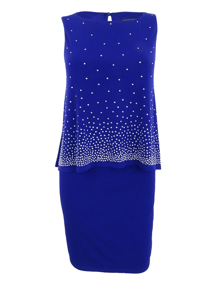 Available at Amazon: Jessica Howard Women's Petite Popover Sequined Sheath Dress