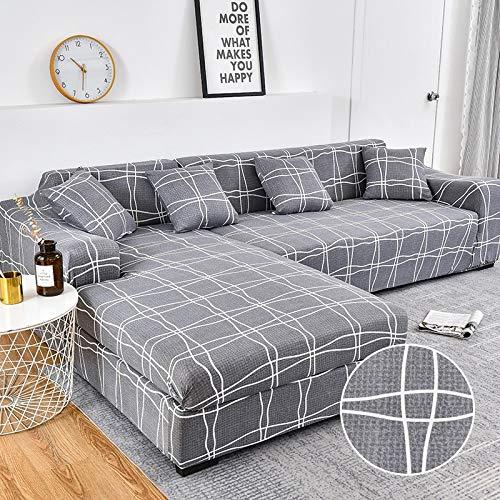 WXQY Funda de sofá de Esquina para Sala de Estar Funda Ajustada Funda de sofá elástica Funda de sofá elástica Funda de sofá a Prueba de Polvo Completa sofá Toalla A15 4 plazas