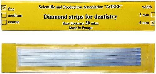 Zubastick Dental Abrasive Stainless Steel Strips Finishing polishing 4mm Medium 5pcs