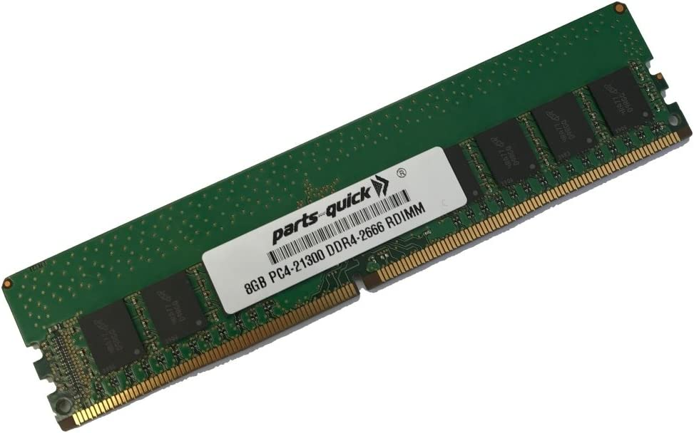 parts-quick 8GB Memory for Dell Precision Workstation 5820 T5820 (XEON W CPU) DDR4 1RX8 RDIMM 2666MHz LV Compatible RAM