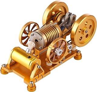DSXX Modelo de motor de Stirling, soplete de vacío de metal, motor de tormenta con cilindro de latón, kit de ingeniería DIY para la física, regalo de alta calidad
