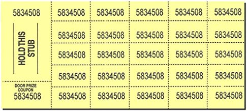 Auction Tickets - 500 Sheets - Yellow